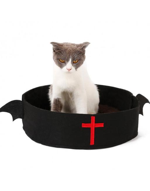 Bedje voor kat of hond in Halloween thema - ZWART