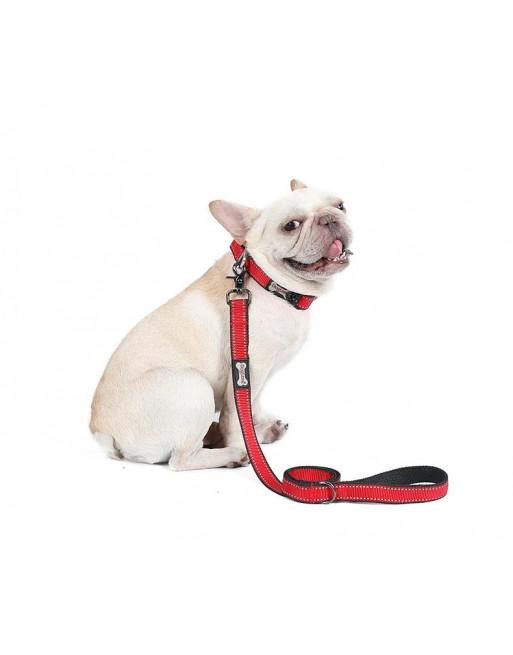 Reflecterende hondenlijn training - SMALL - ROOD
