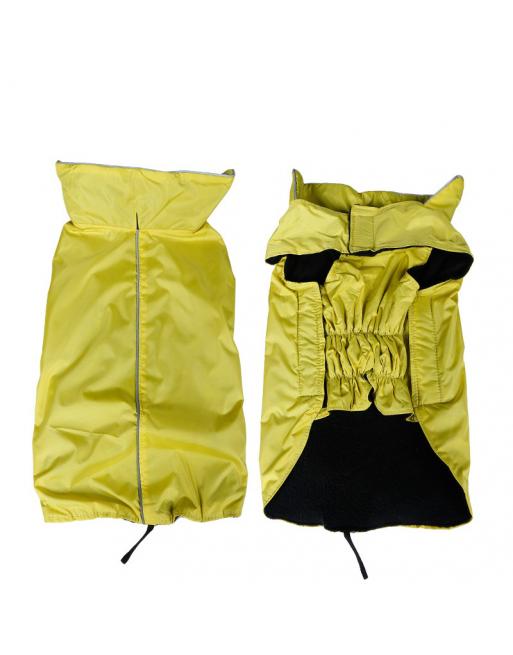 Warm waterproof jasje voor honden -  EXTRA SMALL - GEEL