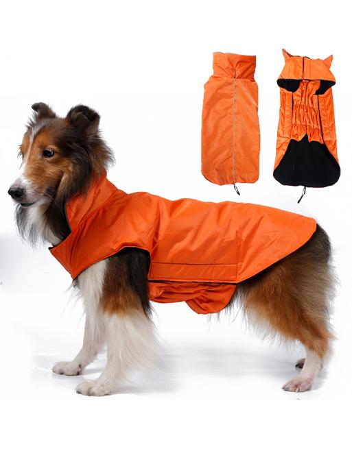 Warm waterproof jasje voor honden - EXTRA SMALL - ORANJE