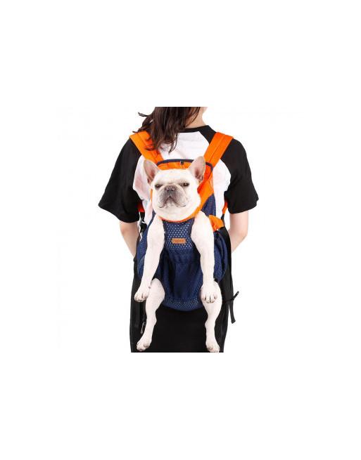 Buik - rug hondentas - rugzak - om uw hondje met U mee te dragen  - MEDIUM - BLAUW