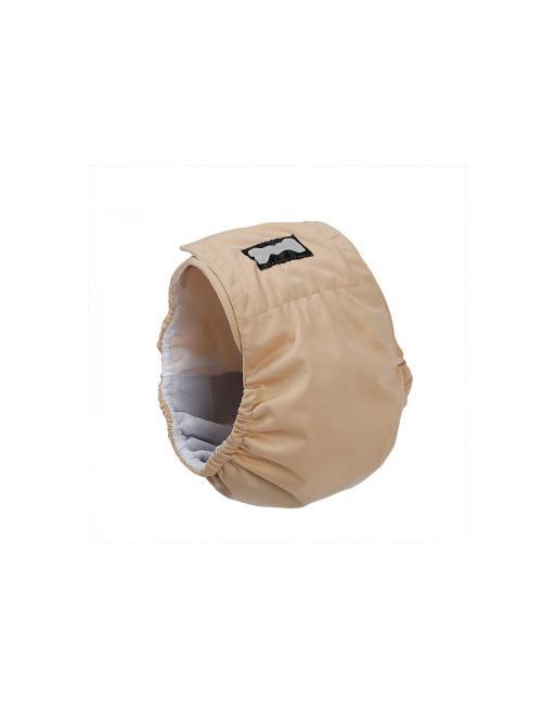 Honden buikband - luier voor mannelijke hond reu - plasband - wasbaar - EXTRA SMALL - BEIGE