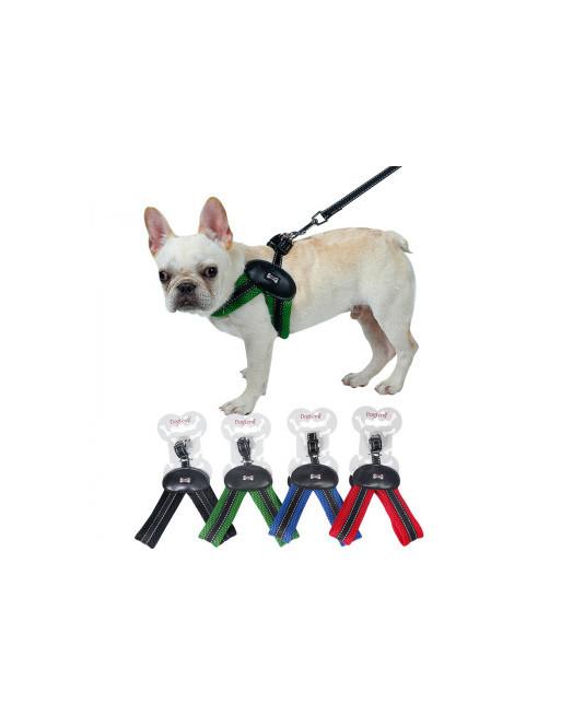 Super eenvoudige harnas voor honden - hondenharnas - EXTRA SMALL - GROEN