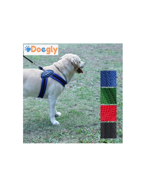 Super eenvoudige harnas voor honden - hondenharnas - EXTRA SMALL - BLAUW