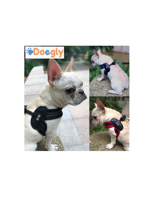 Super eenvoudige harnas voor honden - hondenharnas met leiband - EXTRA SMALL - ZWART