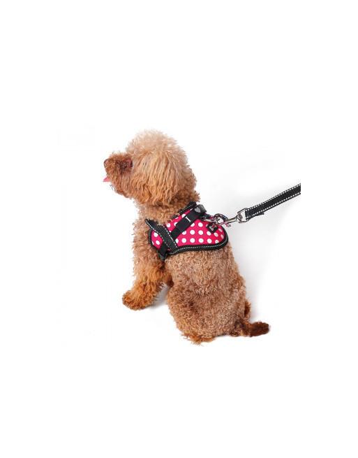 Comfortabel harnas voor kleinere hondjes of katten - SMALL - ROZE