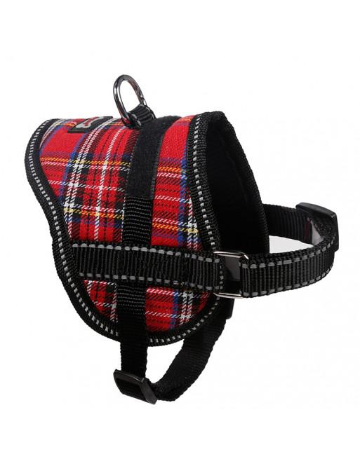 Comfortabel harnas voor kleinere hondjes of katten - SMALL - ROOD