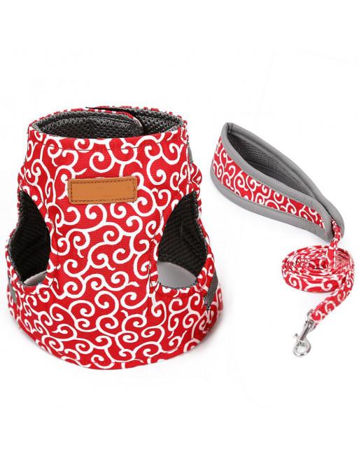 Superleuk harnas speciaal voor katten - katten harnas - Incl. leiband - EXTRA SMALL - ROOD