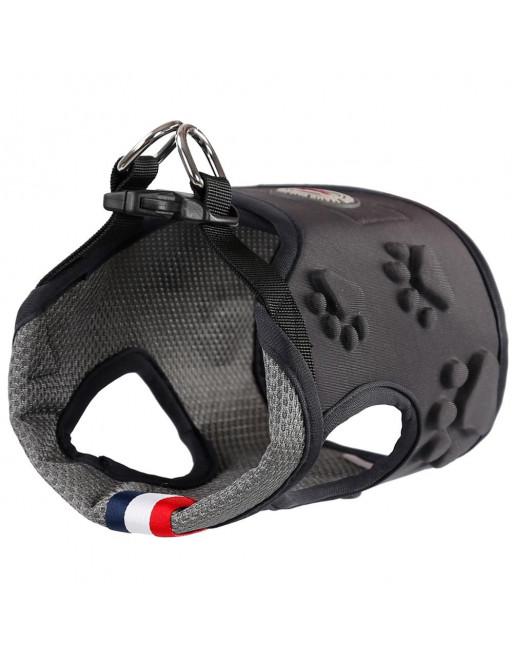 Easy ON/OF - STEP IN - harnas voor honden uit ademende stof - EXTRA SMALL - GRIJS