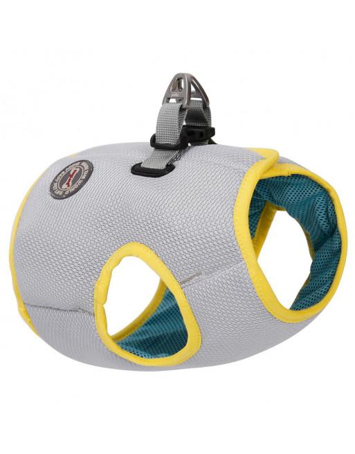 Verkoelend harnas voor de hond - Cool touch fabric - anti UV - EXTRA SMALL - GRIJS