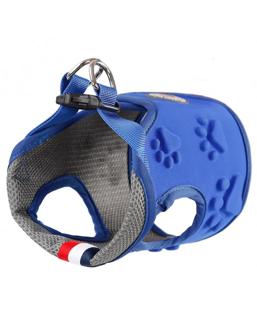 Easy ON/OF - STEP IN - harnas voor honden uit ademende stof - EXTRA SMALL - BLAUW