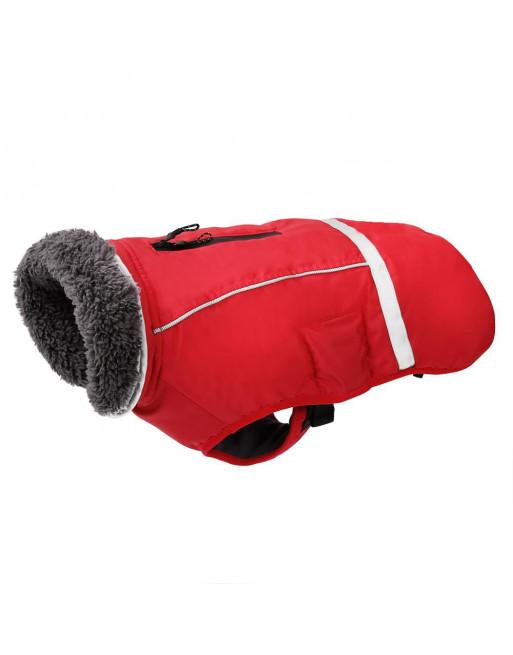 Super warm sportief winterjasje voor de hond - fashion design - SMALL - ROOD