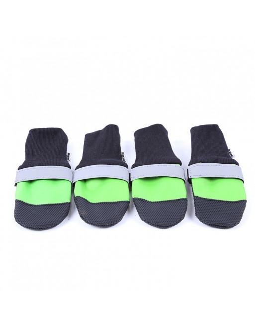 Set elastische hondenschoenen/sokken - waterproof - EXTRA SMALL - GROEN