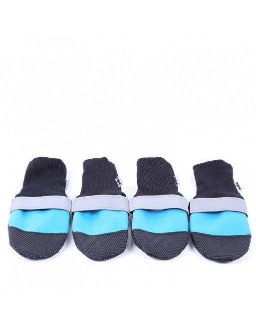 Set Elastische hondenschoenen/sokken - waterproof - EXTRA SMALL - BLAUW