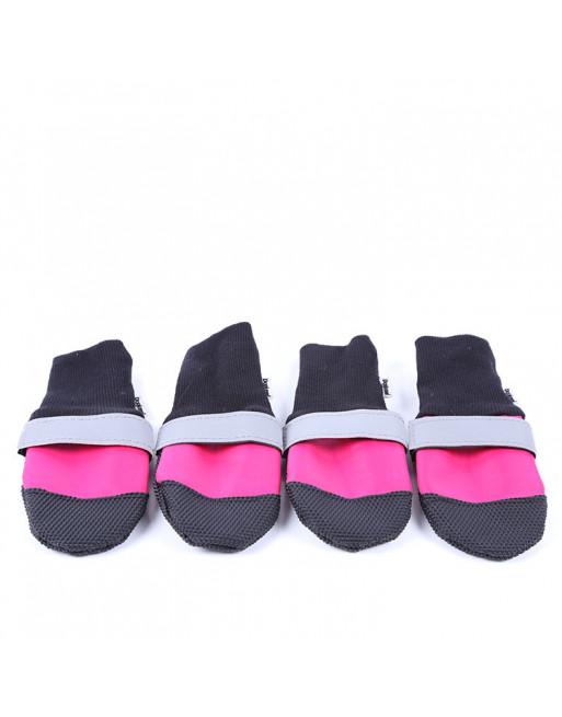 Set Elastische hondenschoenen/sokken - waterproof - EXTRA SMALL - ROZE
