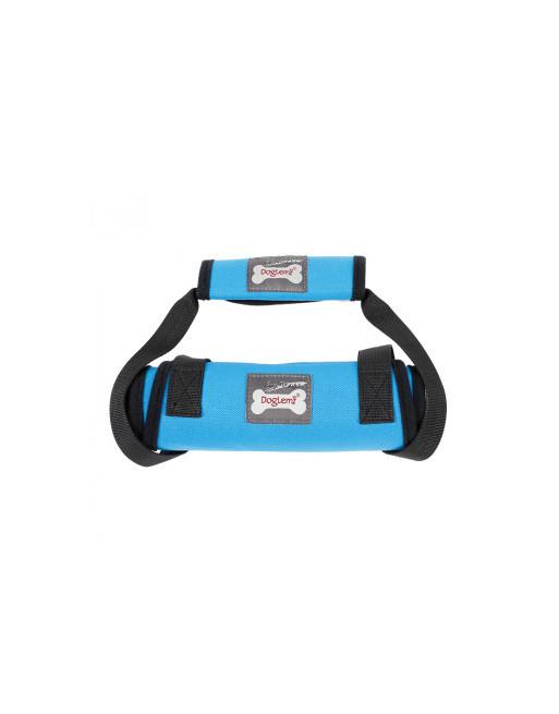 Buikband - staphulp - borstharnas met leiband voor honden - SMALL - BLAUW