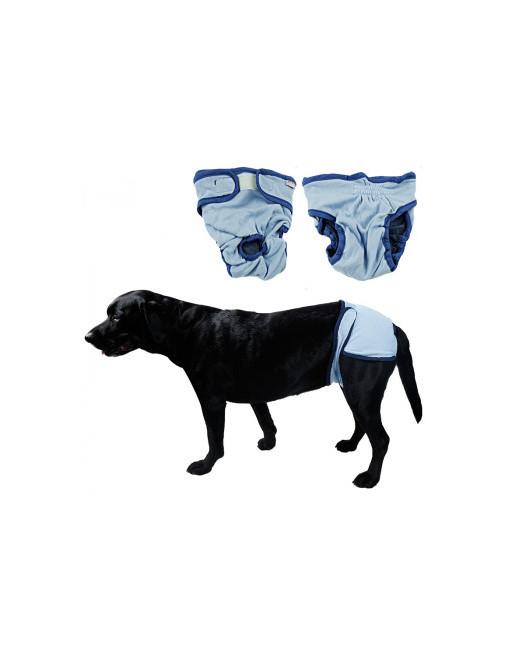 Hondenbroekje - luier voor teef - loopsheid - ongesteldheid - wasbaar  - EXTRA SMALL - BLAUW