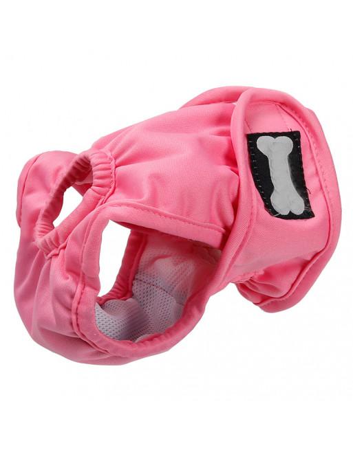 Hondenbroekje - loopsheid - menstruatie - na operatie - wasbaar - EXTRA SMALL - ROZE