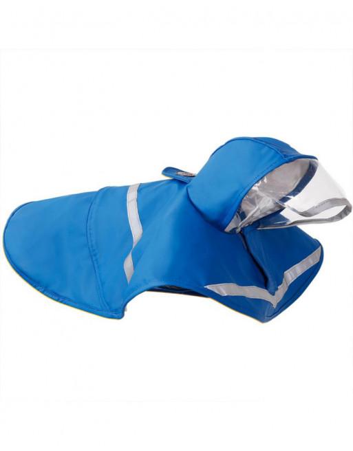 Waterproof regenjas - poncho voor honden met reflector - EXTRA SMALL - BLAUW