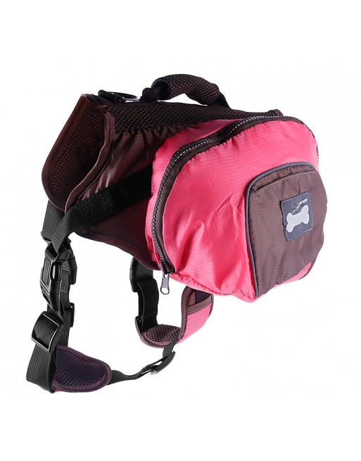 Superleuke backpack rugzak harnas voor honden - Hondenrugzak - MEDIUM - ROZE