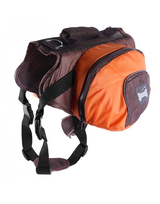 Superleuke backpack rugzak harnas voor honden - Hondenrugzak - SMALL - ORANJE