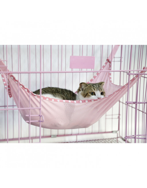 Speelse hangmat voor katten - 58 x 38 cm - ROZE