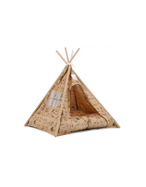 Doegly Tipi Wigwam katten / honden tent mand 62 x 62 x 54 cm - BRUIN