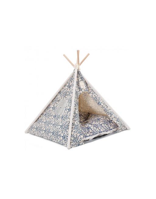 Doegly Tipi Wigwam katten / honden tent mand 62 x 62 x 54 cm - WIT