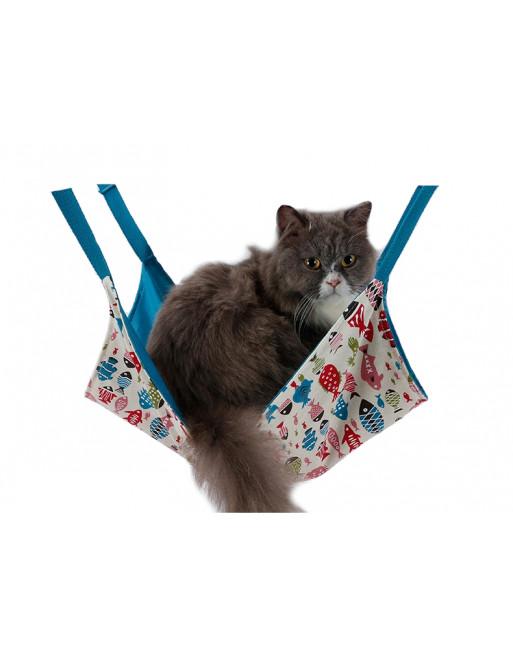 Speelse hangmat voor katten - BLAUW