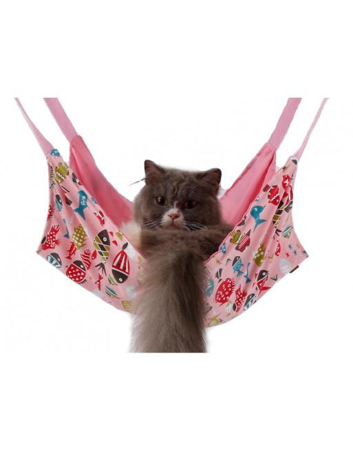 Speelse hangmat voor katten - ROZE