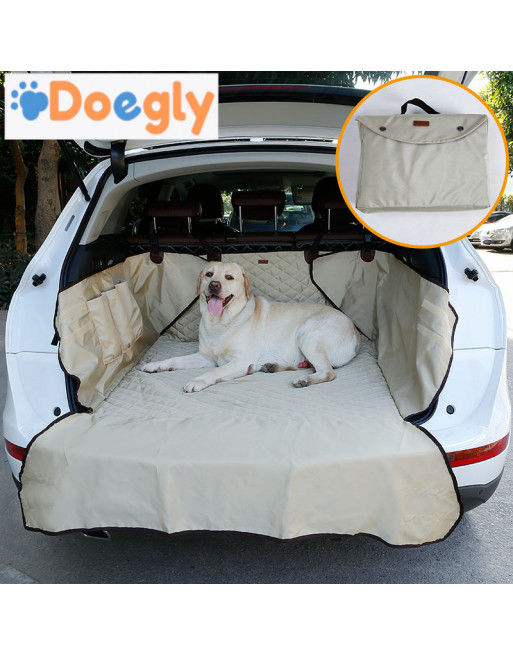 Honden auto bescherming voor koffer van break of  SUV - Autodeken met bumperbescherming - BEIGE