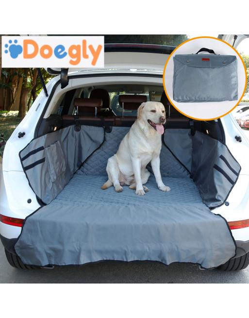 Honden auto bescherming voor koffer van break of SUV - Autodeken met bumperbescherming - GRIJS