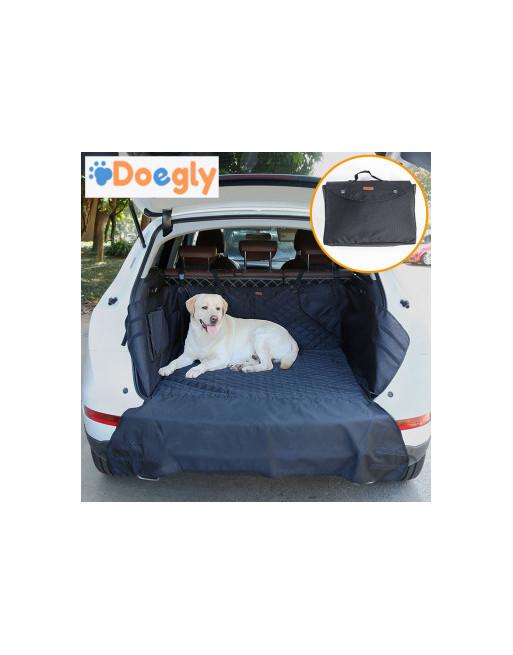 Honden auto bescherming voor koffer van break of SUV - Autodeken met bumperbescherming - ZWART
