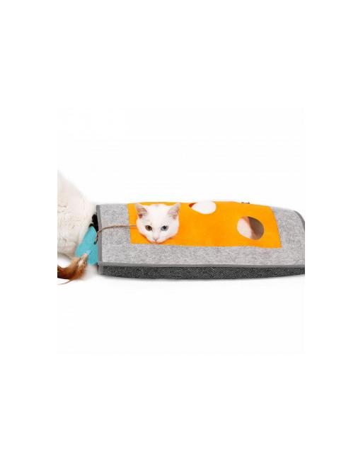 kattenmat - kattentunnel - krabmat - kattenspeeltje - design by Doegly