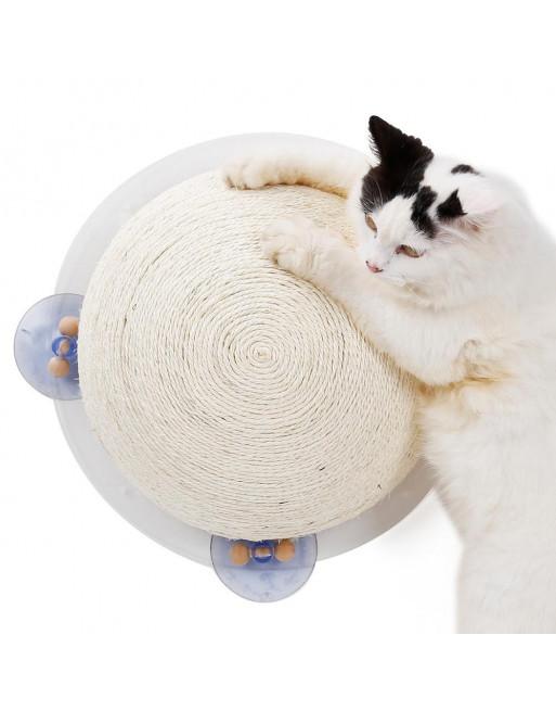 Doegly - halve krabbol voor katten - muur of raam bevestiging - een leuk krabpaal alternatief