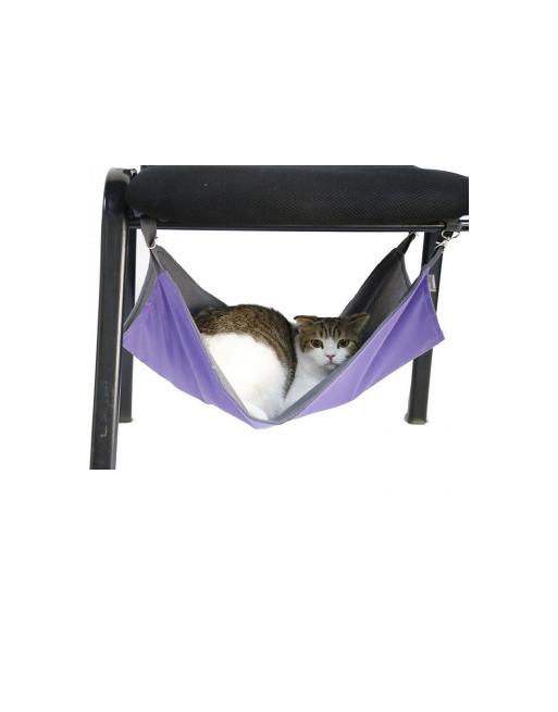Omkeerbare speelse hangmat voor katten - 35 x 35 cm - PAARS