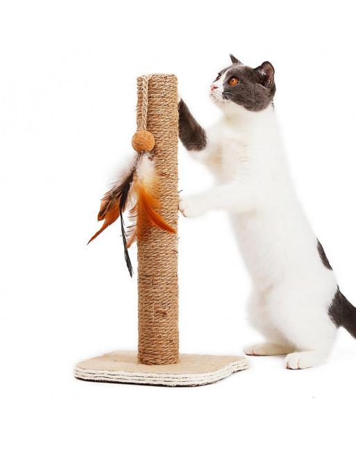 Krabpaal voor poezen -katten - 21 x 17 x 36.5cm - speeltuig voor kat