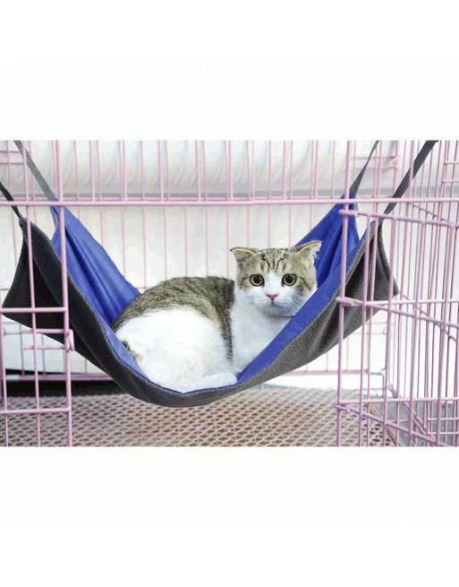 Omkeerbare speelse hangmat voor katten - 58 x 38 cm - BLAUW