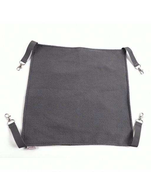 Omkeerbare speelse hangmat voor katten - 58 x 38cm - ZWART