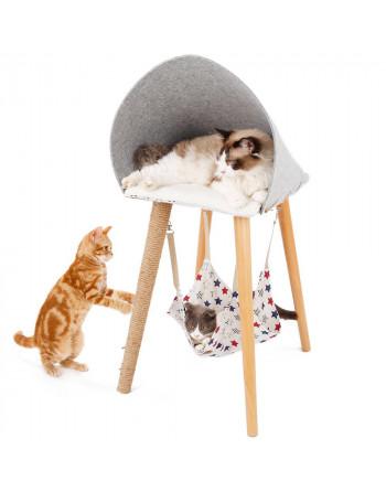 Houten katten mand -...