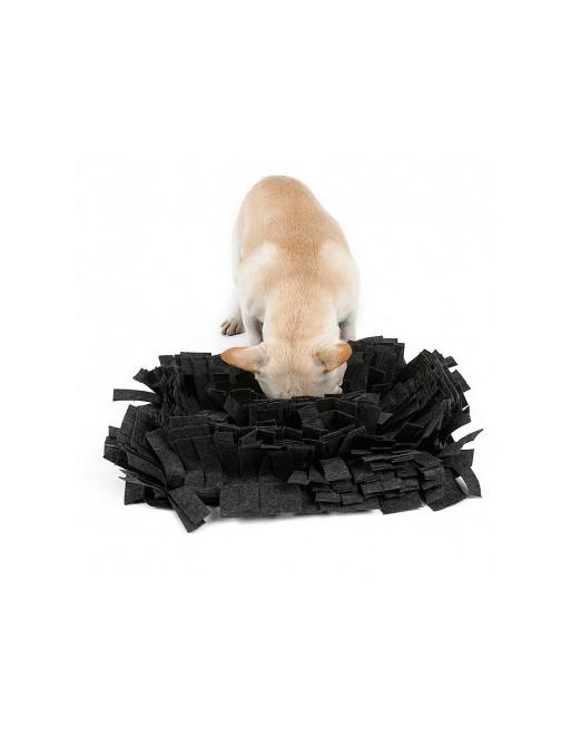 Mega waterproof honden snuffelmat - De ideale training - slow eating - 44 x 32 x 9 cm - DONKER GRIJS