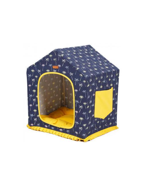 Leuk Hondenhuisje / Kattenhuisje Opvouwbaar - Indoor gebruik - BLAUW/GEEL