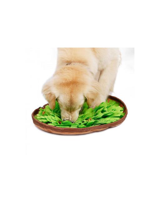 Snuffel mat - snuffel bol - trainingsdeken voor honden - Slow eating - GROEN