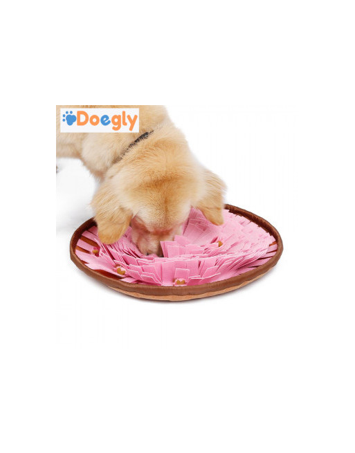 Snuffel mat omvormbaar tot snuffel bol - traingsdeken voor honden - Slow eating training - ROZE