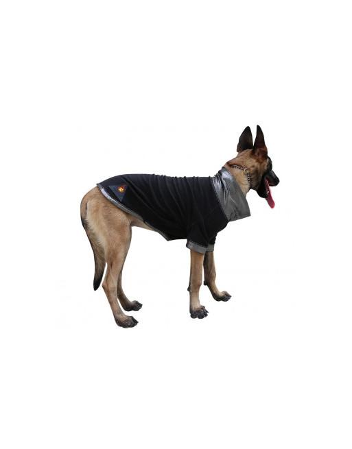 Omkeerbaar warmtehoudend / warmte reflecterend hondenjasje met fleece binnenkant - LARGE