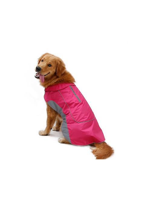 Warm sportief waterafstotend hondenjasje met reflector - EXTRA SMALL - ROZE