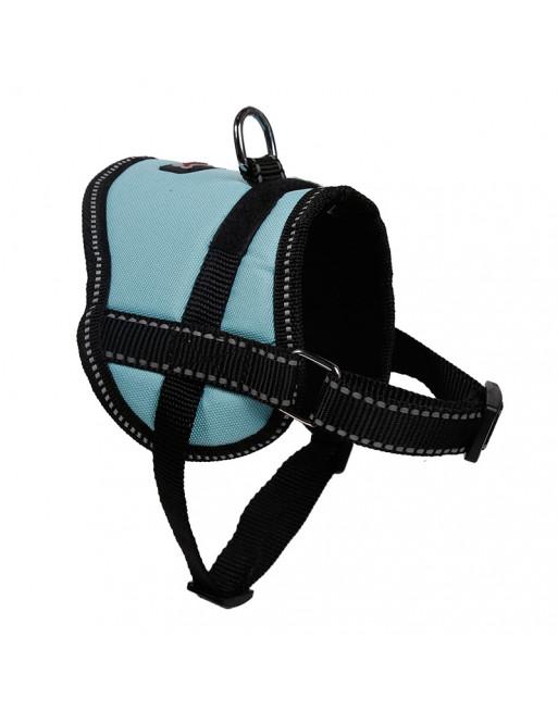 Comfortabel harnas voor kleinere hondjes of katten - SMALL - BLAUW