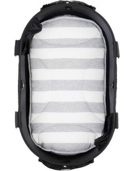 Mat/kussen voor in hondenbuggy Dome 2 M 65x31 cm - Gestreept grijs/wit