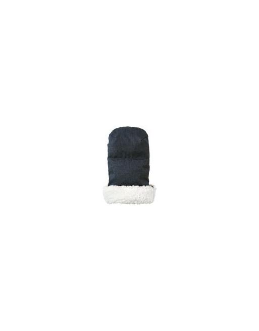 Knusse handverwarmers / handschoenen 35 x 32 x 4 cm - Donkerblauw
