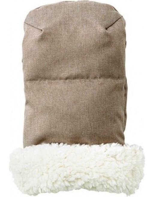 Knusse handverwarmers / handschoenen 35 x 32 x 4 cm - Beige